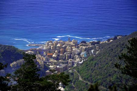 Typical fishing village near Genoa Stock Photo - 57623236