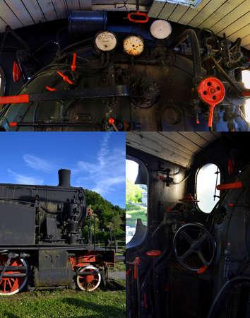 steam locomotive collage