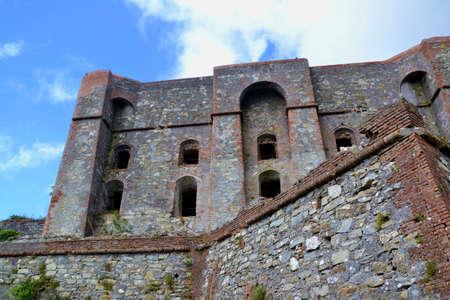 Castles of Genoa-Diamond fort Stock Photo - 62425291