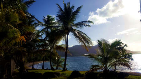 Lagoon in the Caribbean Stock Photo