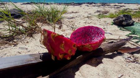 dragon fruit,pitaya, red pulp Stock Photo