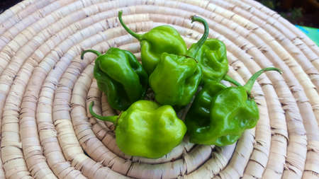 Green chilies Stock Photo