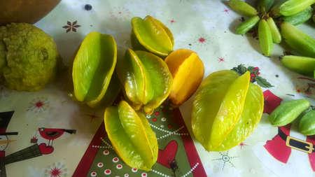 Carambola, Star fruit Stock Photo