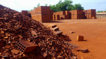 Brick factory Stock Photo