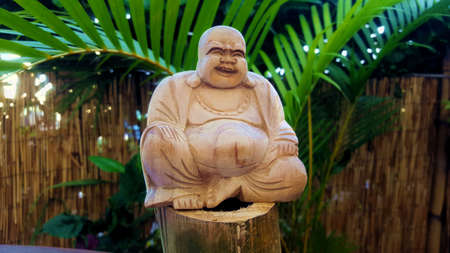 buddha wooden statue Stock Photo