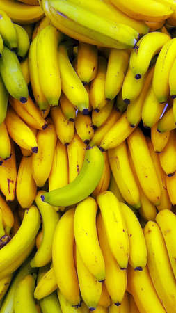 Bananas Fruits Background Stock Photo