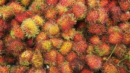 Rambutan Fruits Background
