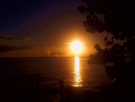 sunset, sundown