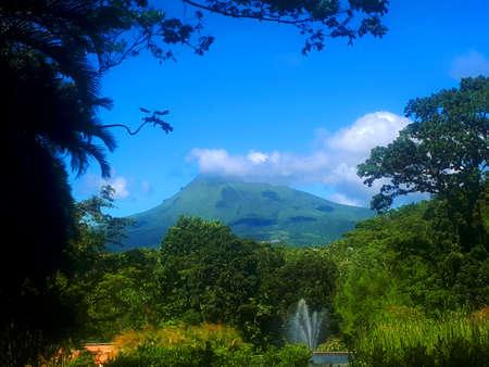 mountain pelè, volcano in martinica Stock Photo