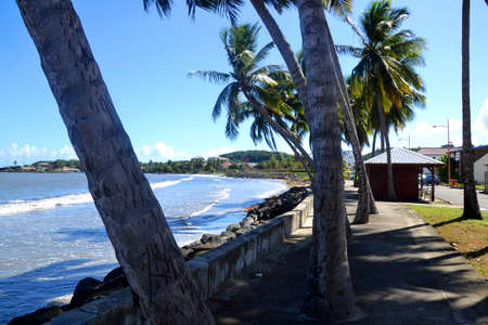 Vauclin coastal country in martinique