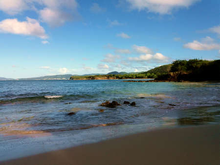 Tropical island in caribbean sea