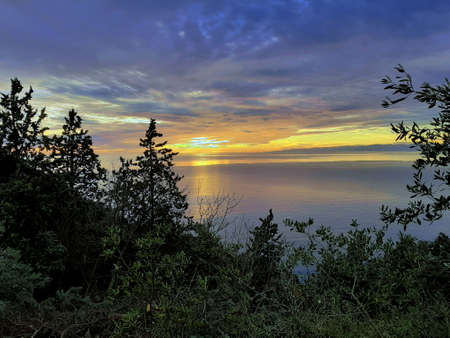 mediterranean seascape sunset