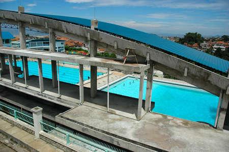 piscina podio Foto de archivo - 4128903