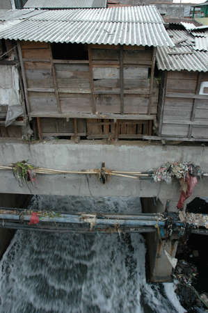 ��low income housing�: slum area