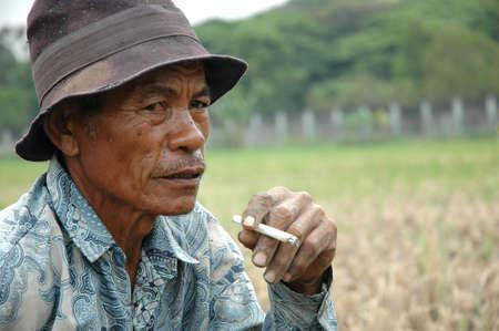 old black man: old farmer