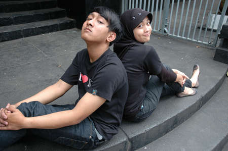 teenage couple photo