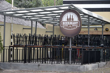 fench: bandung, indonesia-june 9, 2014-beer market cafe in bandung, west java-indonesia