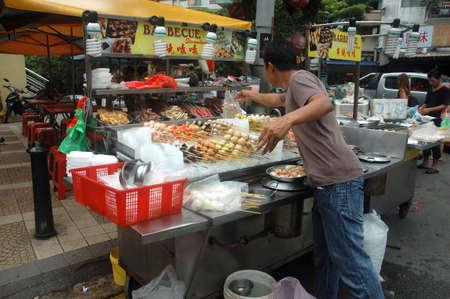 bukit: Kuala Lumpur, Malaysia - June 8, 2013: Flea market at Alor street, Malaysia.