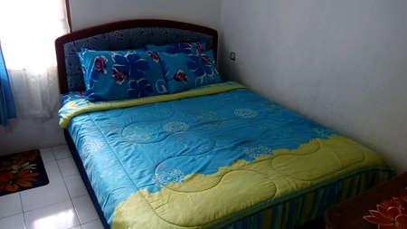 pillows: Spring bed Stock Photo