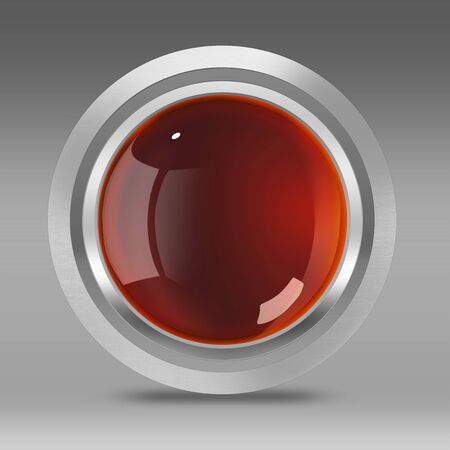 3d button: Glassy metallic 3D button with shadow, selection path included