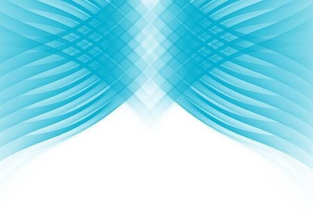 netlike: Simple white background with symmetrical blue curve lines. Stock Photo