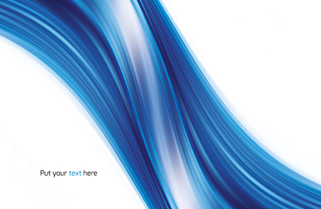 fade: Abstract light and bright waving blue curves background
