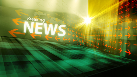 Graphical digital news background with arrows and news text Imagens