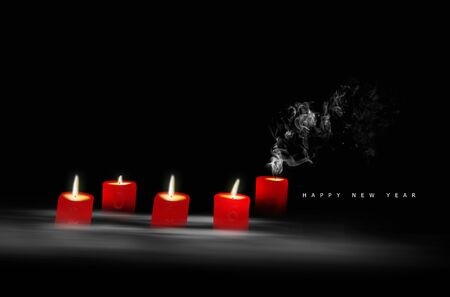 christmass: Happy New Year 2016 Concept, Candles With 2016 Letters