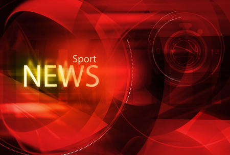 Graphical digital sport news background with sport news text. Banco de Imagens - 50824178
