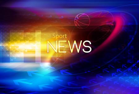 Sfondo grafico digitale sportivo con testo di notizie.