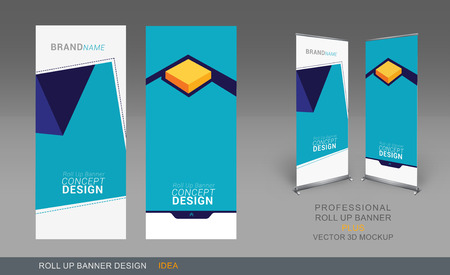 purpose: Professional Roll Up Concept Template for Business Purpose, Place Your Products and Ready To GO For Print.