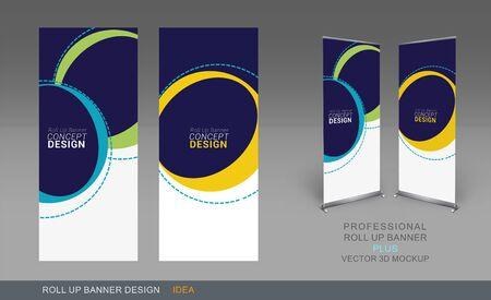 proposito: Profesional rueda para arriba el uso de plantillas para negocios Propósito, coloque sus productos y listo para ir a impresión.