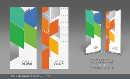 go for: Professional Roll Up Concept Template for Business Purpose, Place Your Products and Ready To GO For Print.