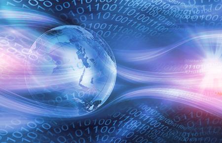 Contexte Technologie numérique graphique mondiale, Saluer de lignes passant par l'espace numérique.