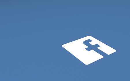 Tehran  IRAN-April 21 2016- Social Network Facebook Sign, The Logo of The Brand Facebook