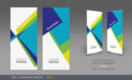 tonality: Professional Roll Up Concept Template for Business Purpose, Place Your Products and Ready To GO For Print.