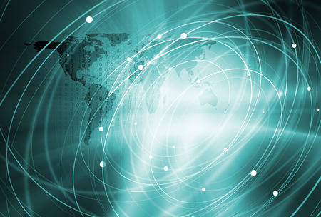 Global Connection Background Through the Whole World Banco de Imagens