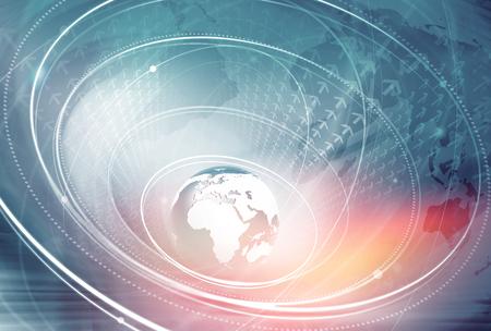 Fondo global de conexión a Internet a través del mundo entero Foto de archivo