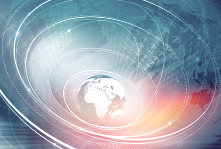 Global Achtergrond voor Internet-verbindingen door de hele wereld Stockfoto