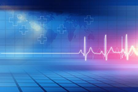 Antecedentes médicos abstractos; Fondo abstracto adecuado para salud y tema de noticias médicas, ilustración 3d