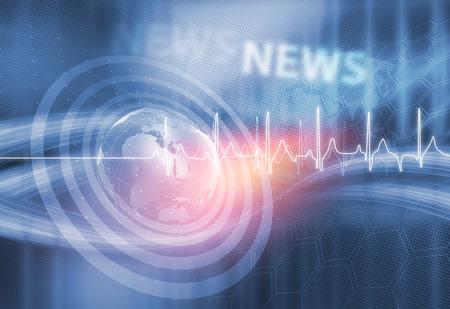 Globale Lecter Healthcare In World, Abstract Background Adatto per il settore sanitario e medicina Notizie Discussione