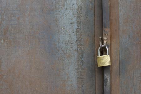 horizental: Safe Lock on Metal Door