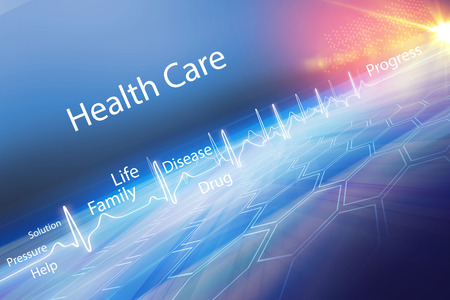 Abstract health care background, Suitable for Healthcare and Medical Topic News, 3d Render, 3d illustration