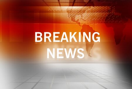 news cast: Graphical Breaking News Background with News Text Stock Photo
