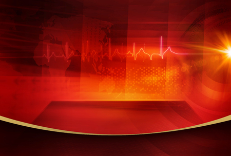news cast: Medical Abstract Background; Suitable for Healthcare and Medical News Topic.