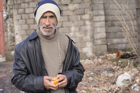 foolish: Chokam, IRAN - December 16, 2016, Portrait of a Foolish Man, Gilan Province.