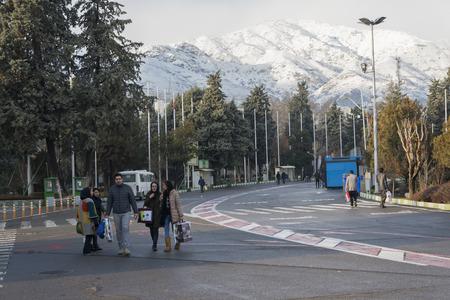 fairground: Tehran, IRAN - December 28, 2016 Tehran International Permanent Fairground. People Coming for Visit Exhibition
