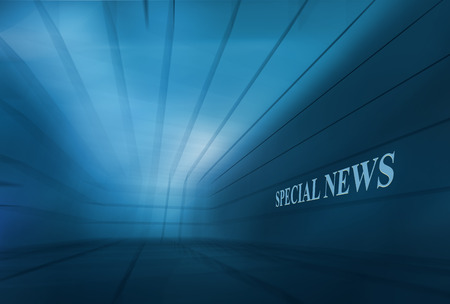 Abstract Empty 3D Space BlueTheme  Speical News Background. Stock Photo