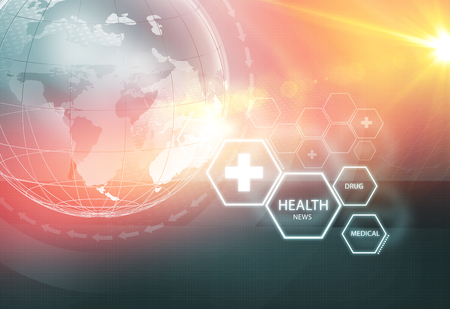 Global Health News Background; Suitable for Healthcare and Medical News Topic