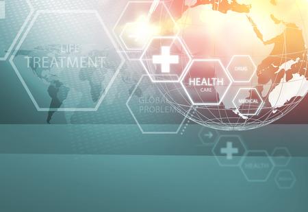 医療の抽象的な背景。健康・医療のニュース トピックに適して